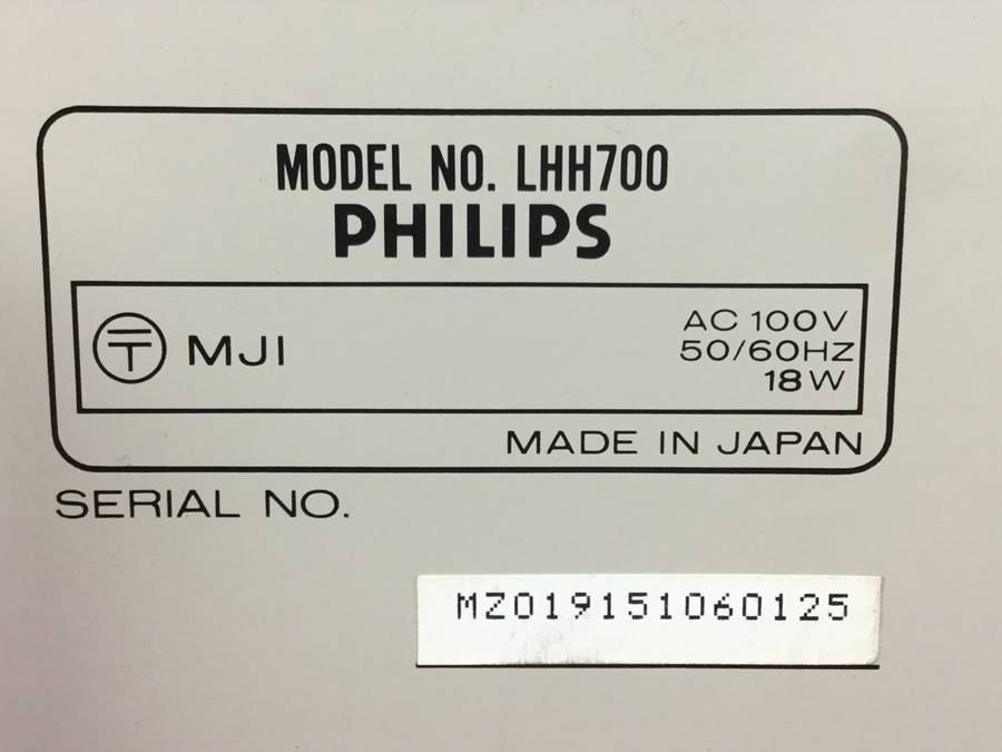PHILIPS LHH700 CDプレーヤー